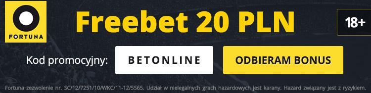 fortuna freebet 20 złotych